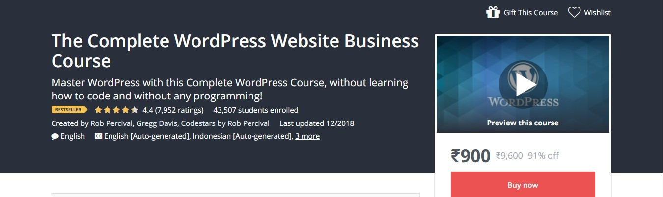 Udemy - The Complete WordPress Website Business Course