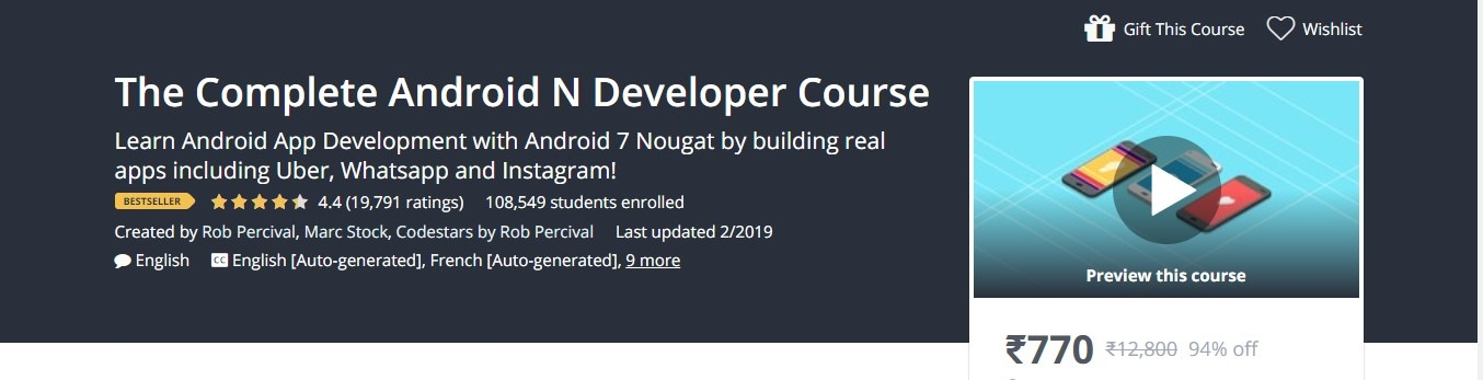 The Complete Android N Developer Course - Udemy Full Course Learn