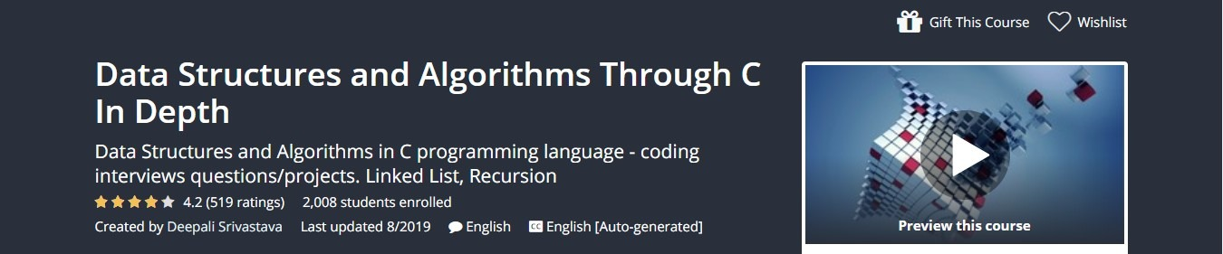 Udemy - Data Structures and Algorithms Through C In Depth