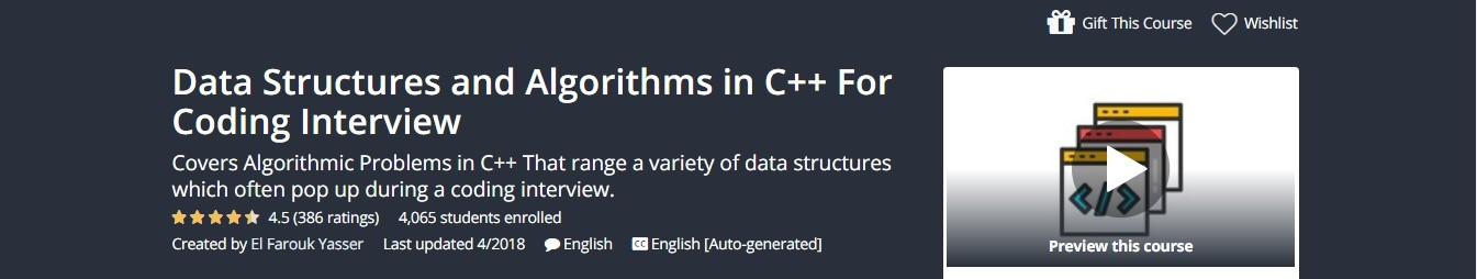 Udemy - Data Structures and Algorithms in C++ For Coding Interview