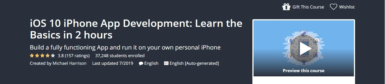 Udemy - iOS 10 iPhone App Development: Learn the Basics in 2 hours Course Coupon
