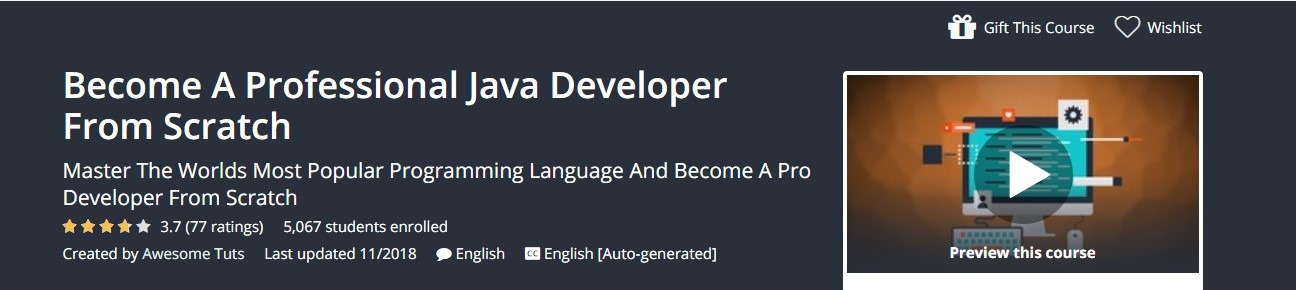 Udemy - Become A Professional Java Developer From Scratch