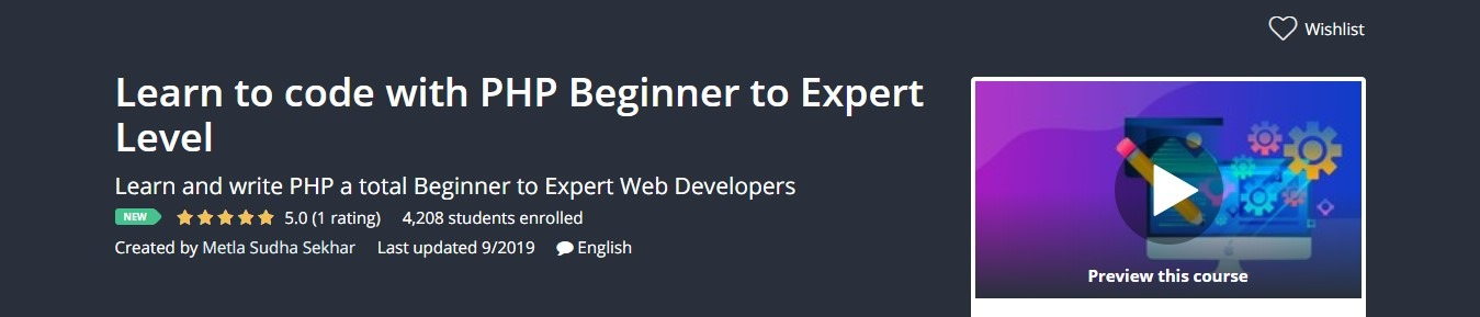 Learn to code with PHP Beginner to Expert Level  Udemy Course Coupon