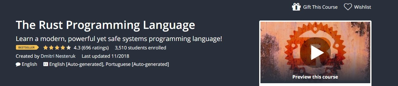 Udemy - The Rust Programming Language Course
