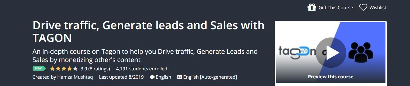 Udemy - Drive traffic, Generate leads and Sales with TAGON coupon