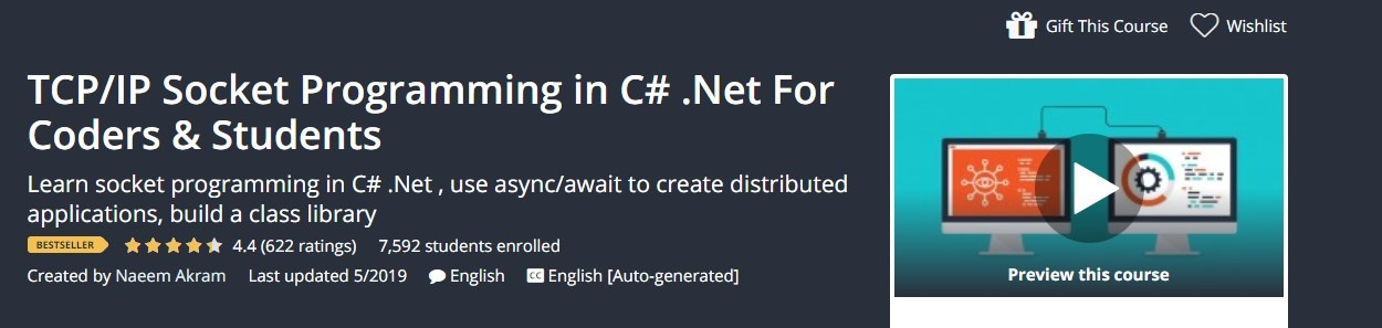 TCP/IP Socket Programming in C# .Net For Coders & Students